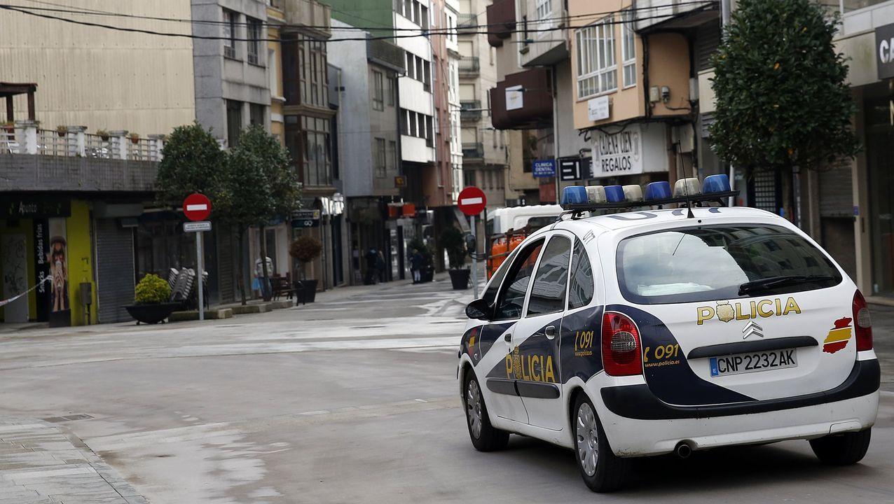 Policía Nacional en Ribeira