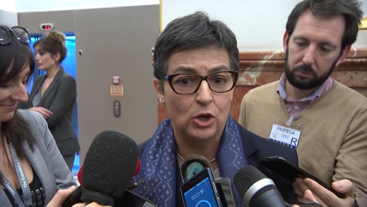 Así fue la manifestación del Día de la Mujer en A Coruña.La ministra de Asuntos Exteriores, Arancha González Laya