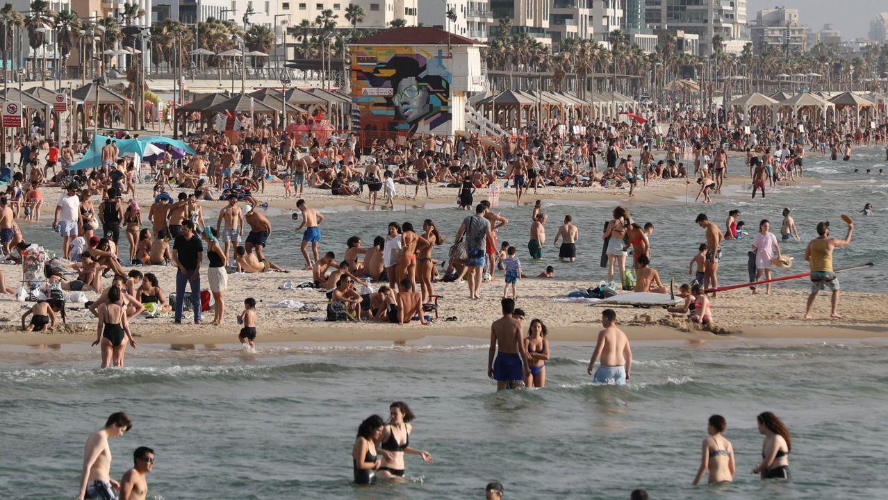 La semana pasada, a pesar de que todavía no estaba permitido, en Tel Aviv ya se llenaron las playas debido a las altas temperaturas