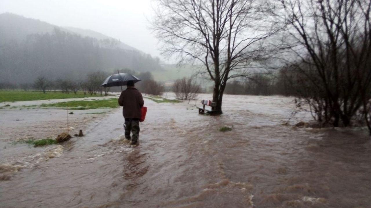 Inundaciones en Oviedo.Crecida del río Esva