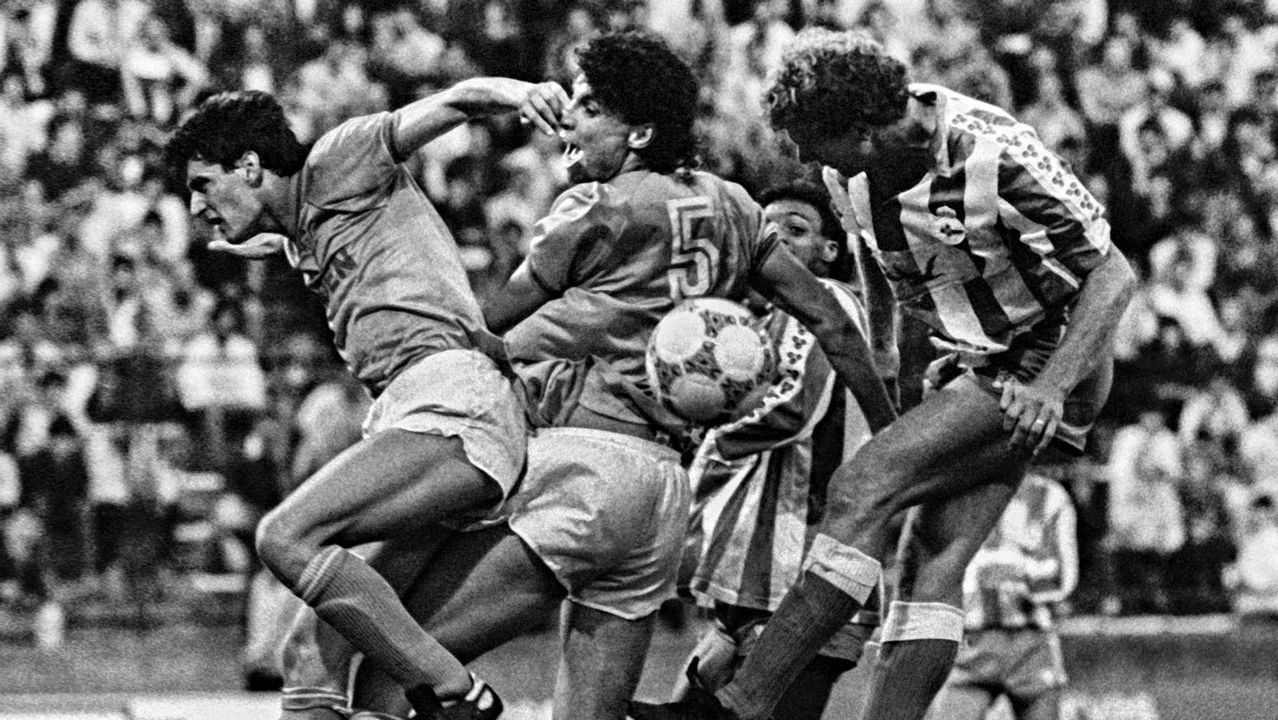 Promoción de ascenso frente al Deportivo en 1987.