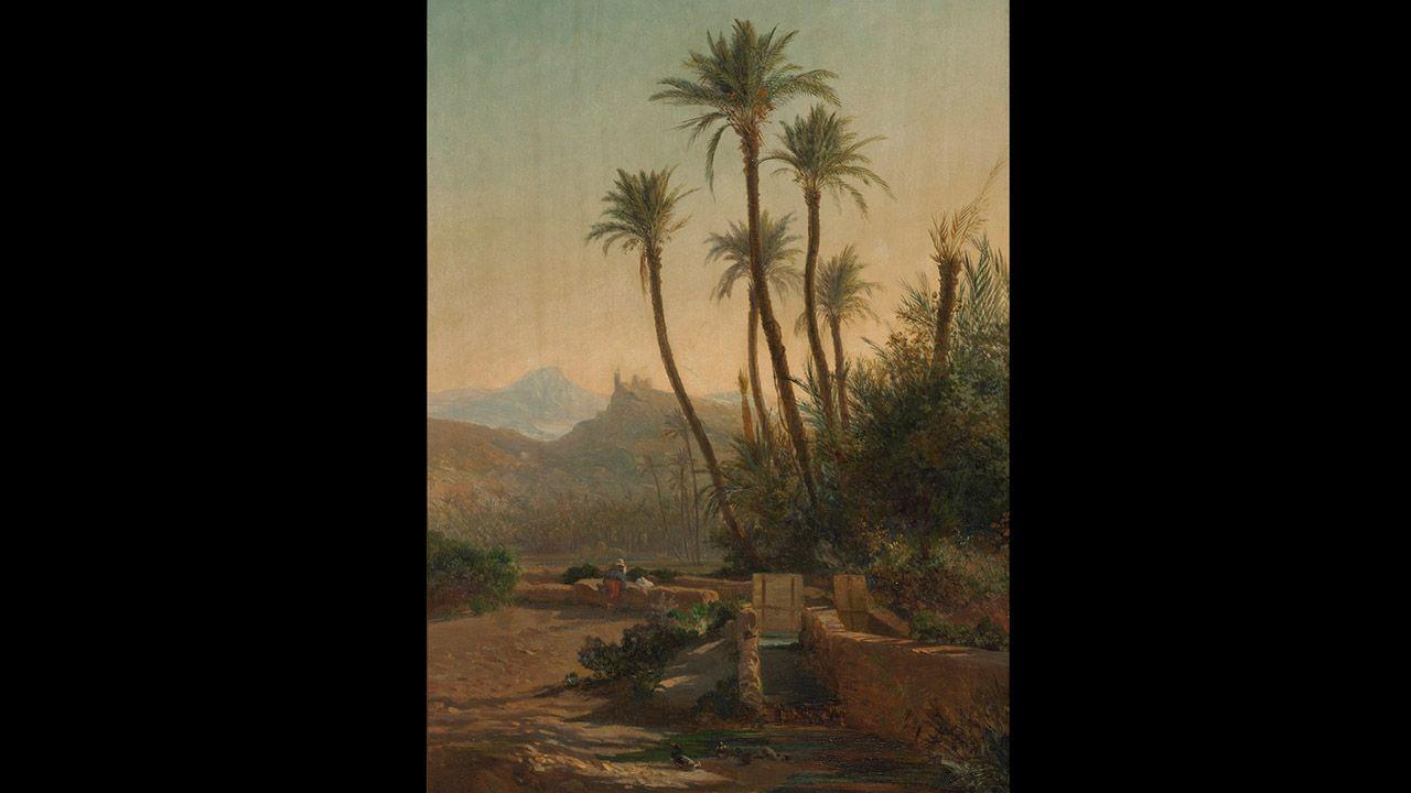 Paisaje (1860), de Carlos de Haes. Colección Villagonzalo