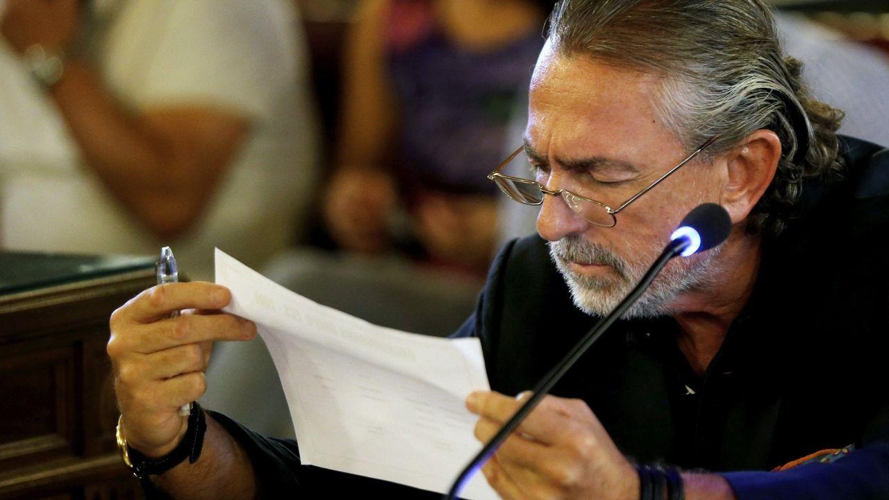 Francisco Correa, cabecilla de la red Gürtel. durante una vista en la Audiencia Nacional