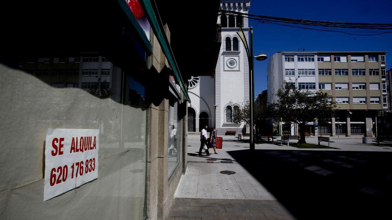 Una de las zonas afectada por los cierres continuos de negocios es la próxima a la plaza