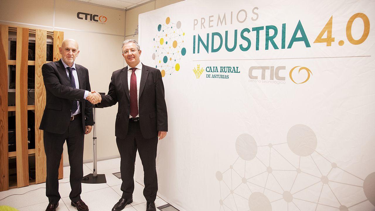 Pablo Priesca, director general de CTIC y Antonio Romero, subdirector general de Caja Rural de Asturias