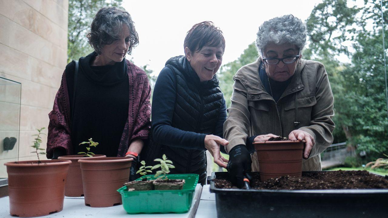 Sigue en directola llegada de Leonor a los Premios Princesa de Asturias 2019.Joanne Chory y Sandra Myrna Díaz plantan algunas especies autóctonas asturianas en el Jardín Botánico de Gijón