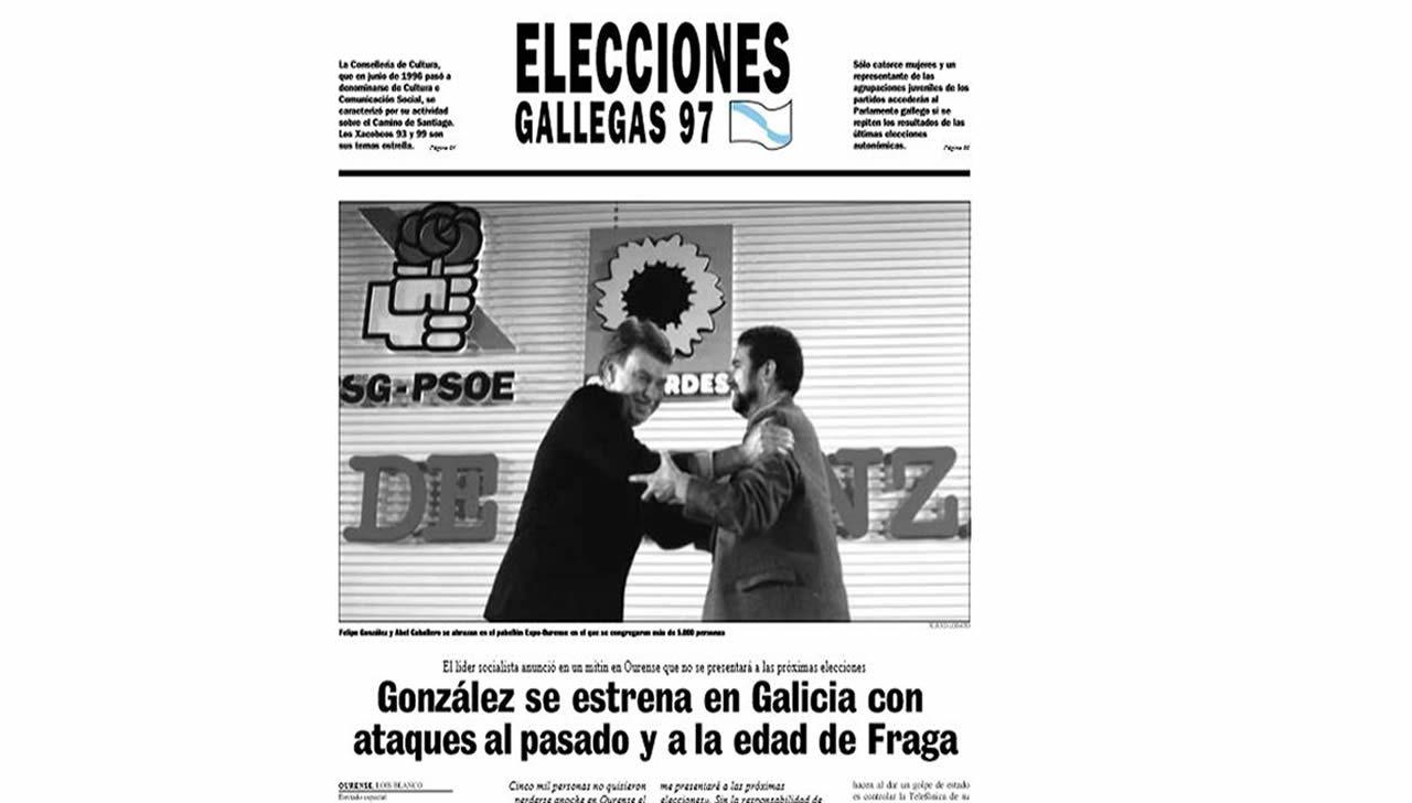 Página publicada por La Voz de Galicia el 7 de octubre del 1997