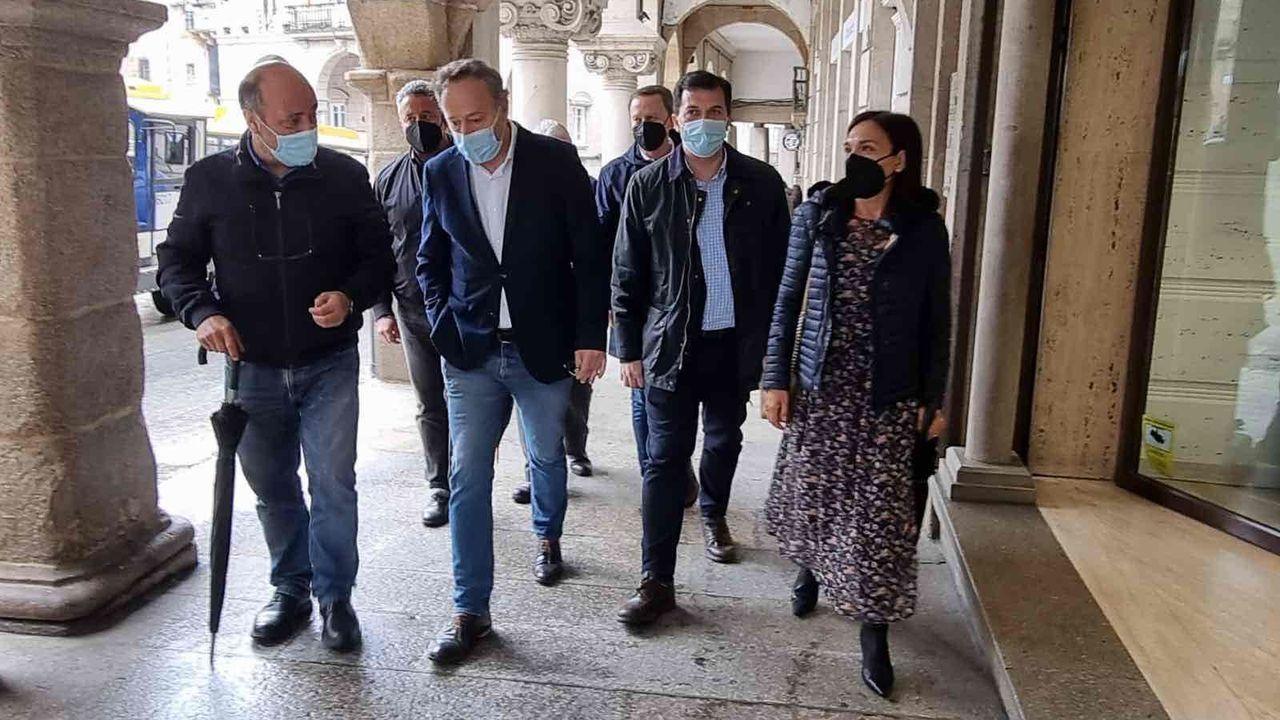 El secretario general del PSdeG visitó Ourense este martes
