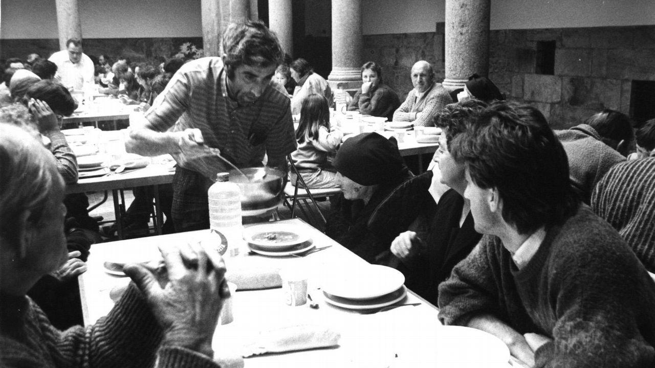 Muchos de los evacuados fueron realojados en el convento de San Francisco, en Santiago de Compostela