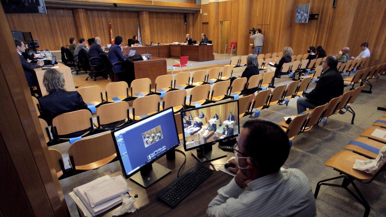 Imagen del juicio por el pazo de Meirás celebrado el pasado mes de julio en A Coruña y que no tendrá que repetirse