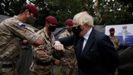 Boris Johnson, durante una recepción a los soldados que participaron en la evacuación de Afganistan.
