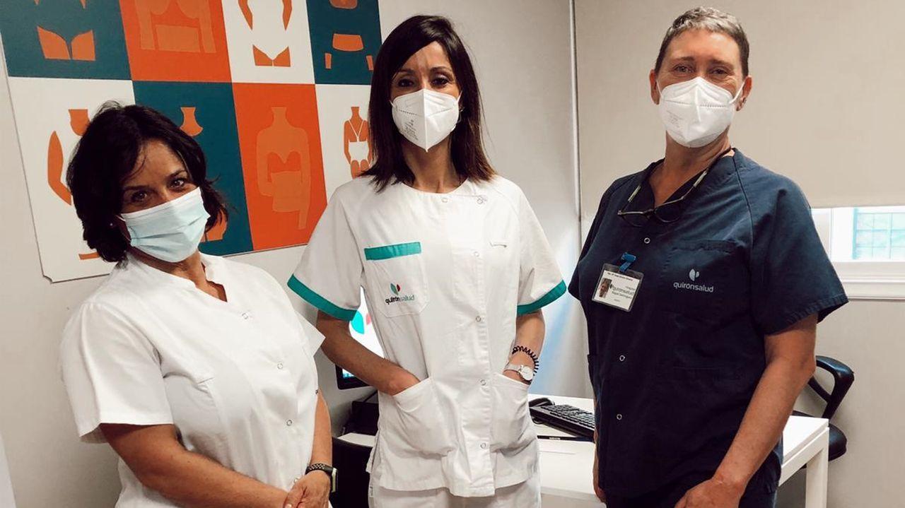 El equipo de la nueva unidad de medicina estética del hospital Quironsalud de Pontevedra