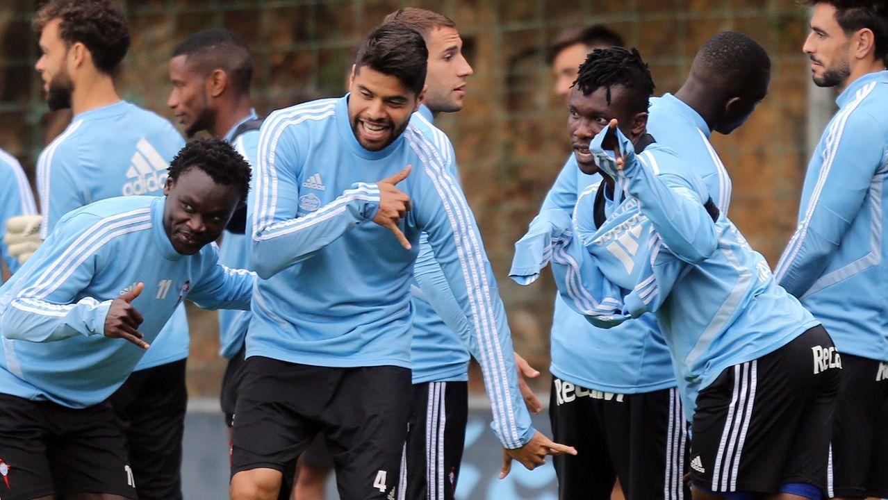 El último entrenamiento antes de la visitaal Atlético, en imágenes