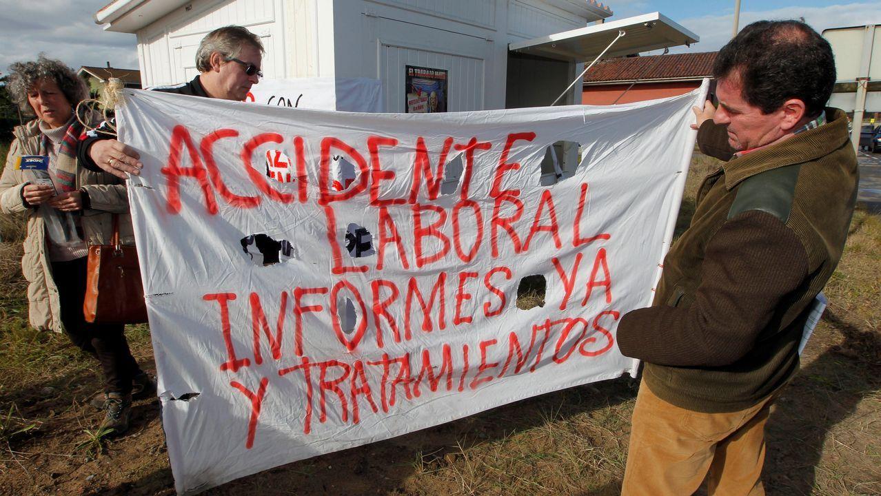 La consejera de Servicios y Derechos Sociales, Pilar Varela.Tres trabajadores en representación de los 49 que resultaron en 2012 intoxicados por mercurio en las instalaciones de la fábrica de Asturiana de Zinc (AZSA) han iniciado una huelga de hambre