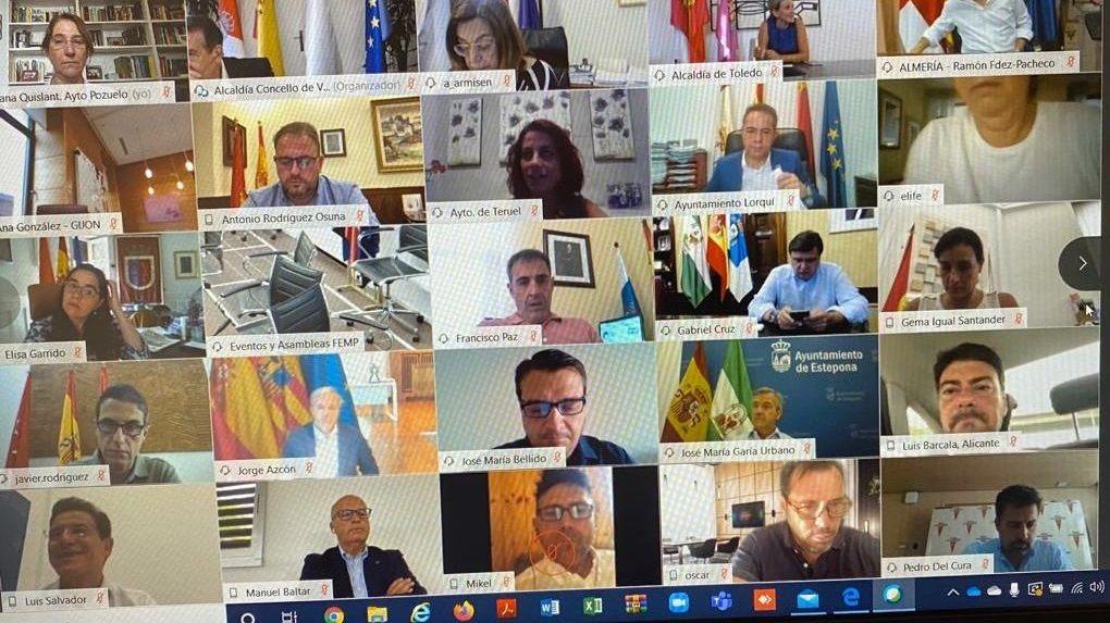 Reunión de la FEMP con la participación del presidente de la Diputación de Ourense, José Manuel Baltar
