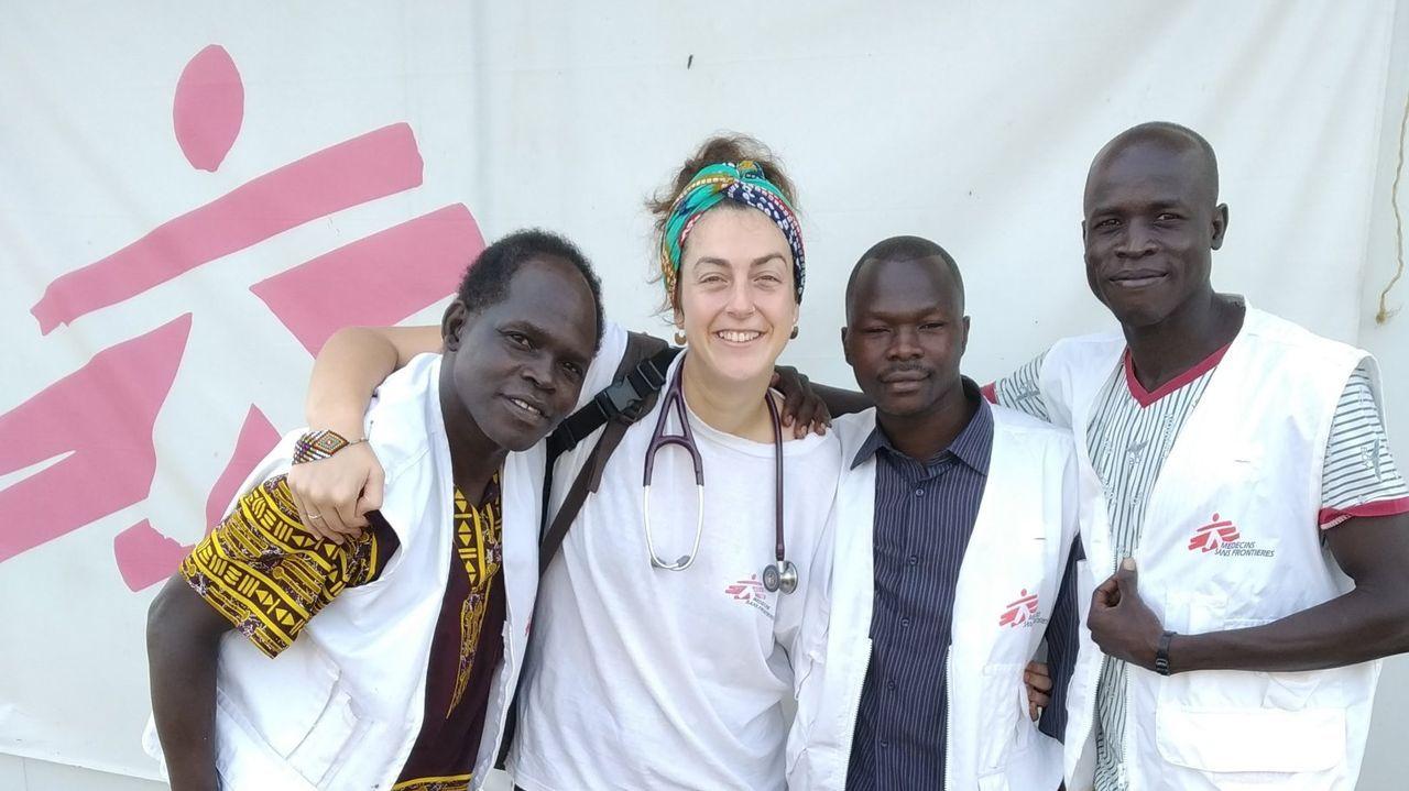 La oenegé Médicos Sin Fronteras operando en Sudán del Sur
