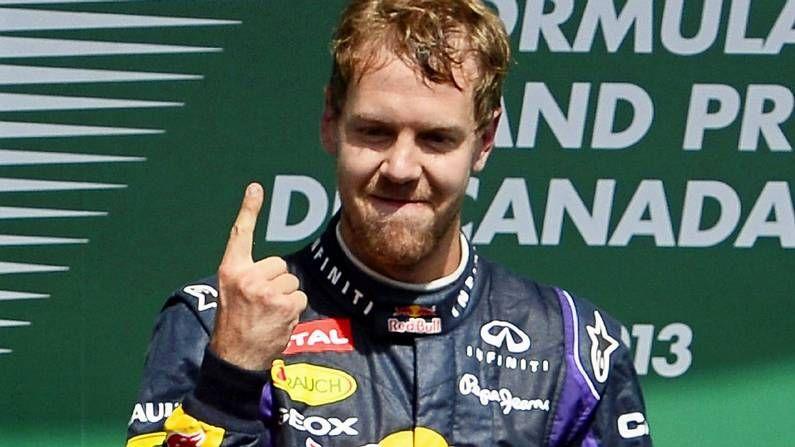 Vettel, en el podio de Canadá