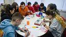 Alumnos del IES Monte das Moas trabajando en un proyecto de la Agencia Espacial Europea