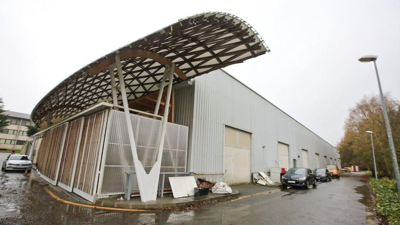 Cubierta de madera en la Escola Politécnica de Lugo, colocada por Pemade
