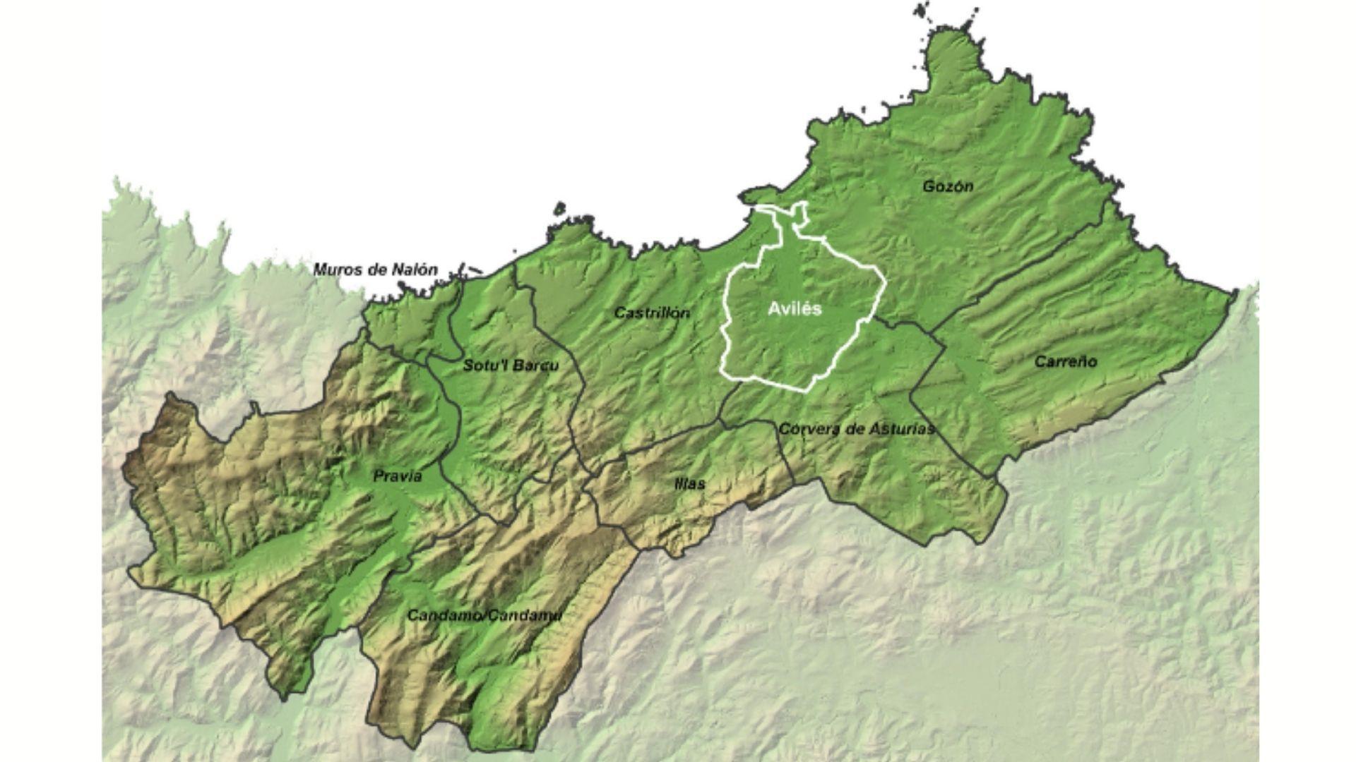Propuesta de ámbito territorial para la estrategia agroalimentaria de proximidad de Avilés y su comarca