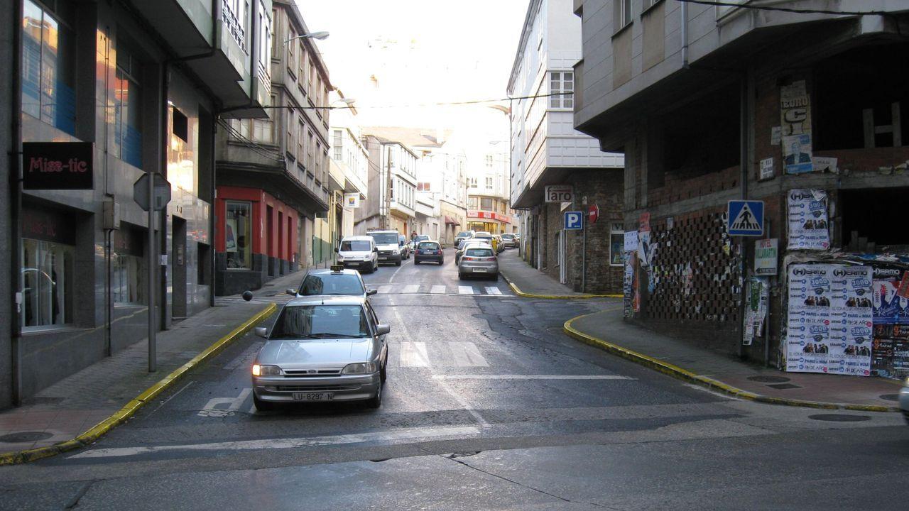 Imagen del inicio de la calle Chao Ledo, en el cruce con la calle Galicia