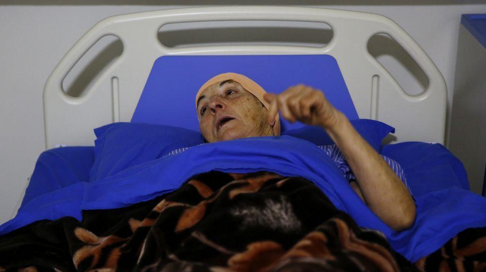 unicef.Una integrante del grupo de senderistas españoles que ha resultado herida, en el hospital de Katmandú.