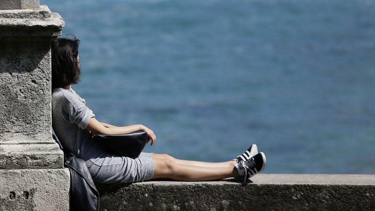 Nuevas especies en Galicia.El sol y el calor animó a los coruñeses a acudir a las playas y a caminar por el paseo marítimo