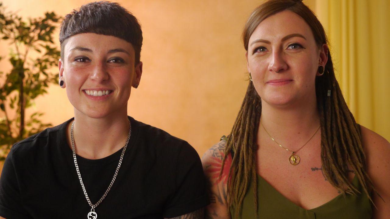 Jade y Claire son dos de las protagonistas del documental grabado en pleno confinamiento