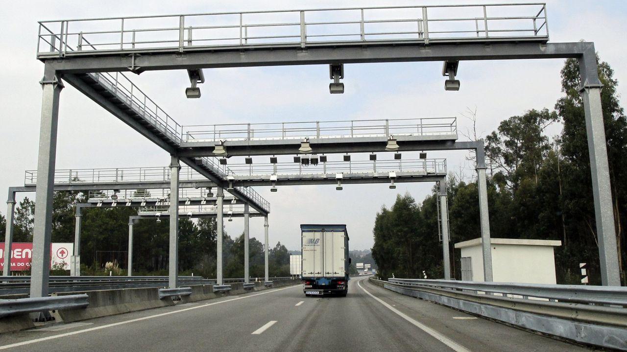 Peaje automático en la autovía A28 entre Viana do Castelo y Oporto