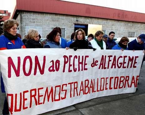 La plantilla de Alfageme se rebeló contra el fin de la empresa.