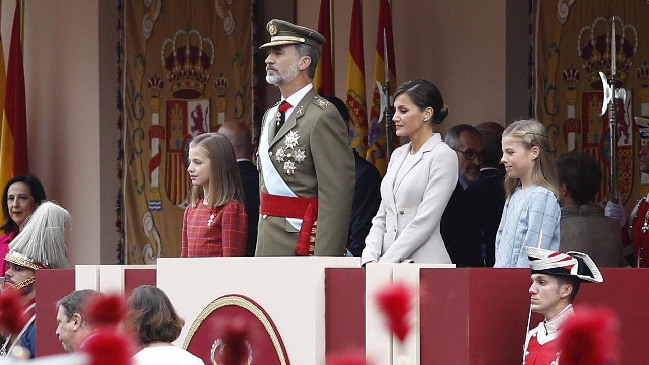 Durante el desfile de las Fuerzas Armadas el 12 de octubre