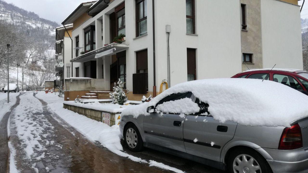 Casa donde ocurrió el asesinato en El Condao (Laviana)