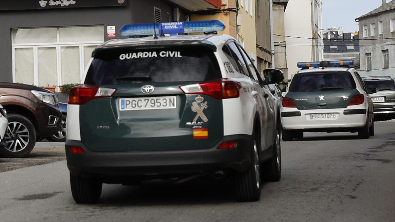 Patrullas de la Guardia Civil en Burela, en una imagen de archivo