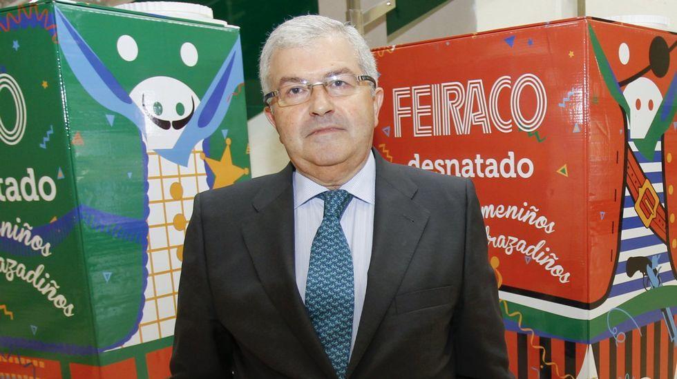 La cara B de la toma de posesión.José Luis Antuña, director general de Feiraco