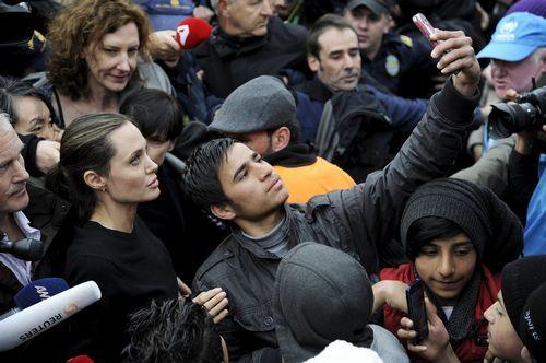 Visita de Angelina Jolie a Grecia