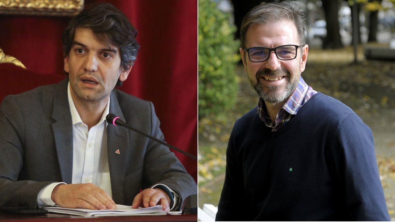 Jorge suárez busca su lugar tras la derrota de Ferrol en Común, con un perfil bajo tanto en el pleno como en las comisiones municipales.