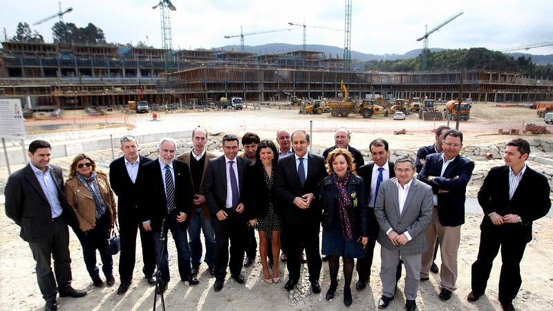 Efectos del temporal.Alcaldes del área metropolitana de Vigo en el Parlamento