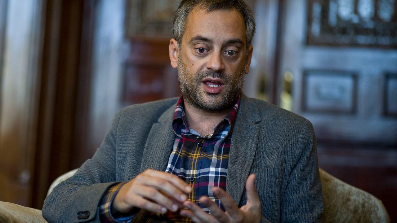 Xulio Ferreiro: «Os problemas se montan cando un quere facer algo diferente do feito até agora».Trabajadores de Alcoa de Avilés