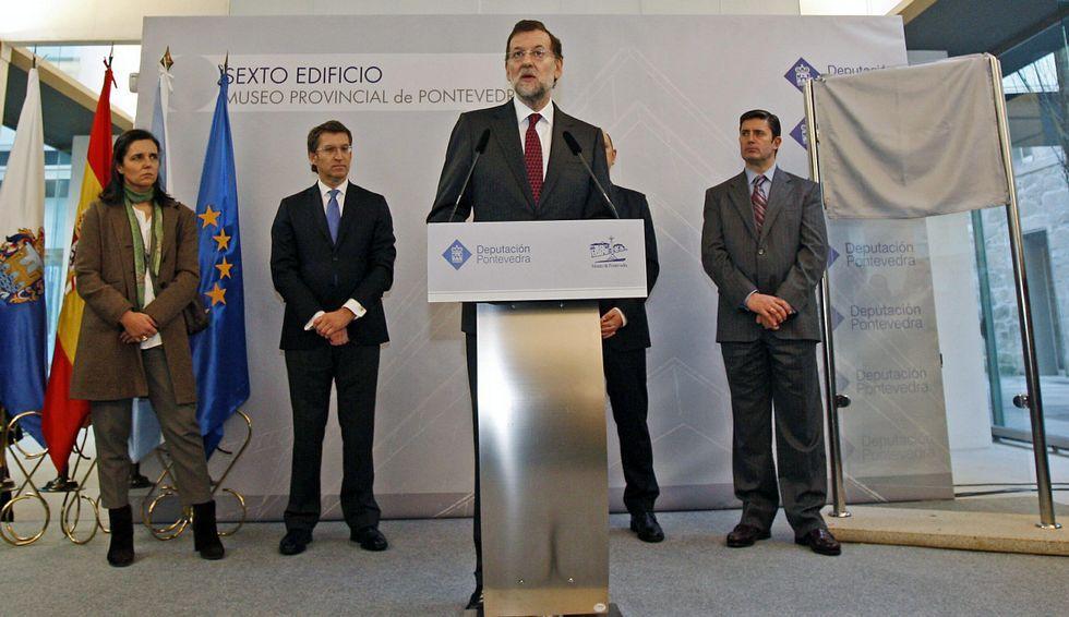 Mariano Rajoy, en la inauguración del Sexto Edificio del Museo de Pontevedra.