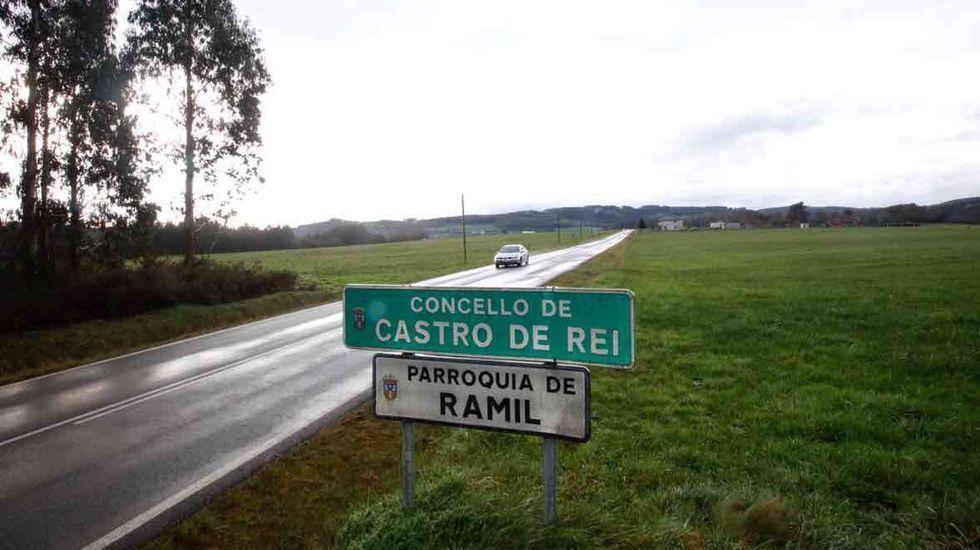 Entrega de diplomas en Outeiro de Rei.El accidente tuvo lugar cerca del centro de salud de Castro de Rei