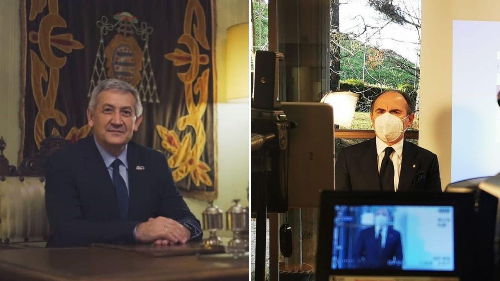 Santiago García Granda y, a la derecha, Ignacio Villaverde
