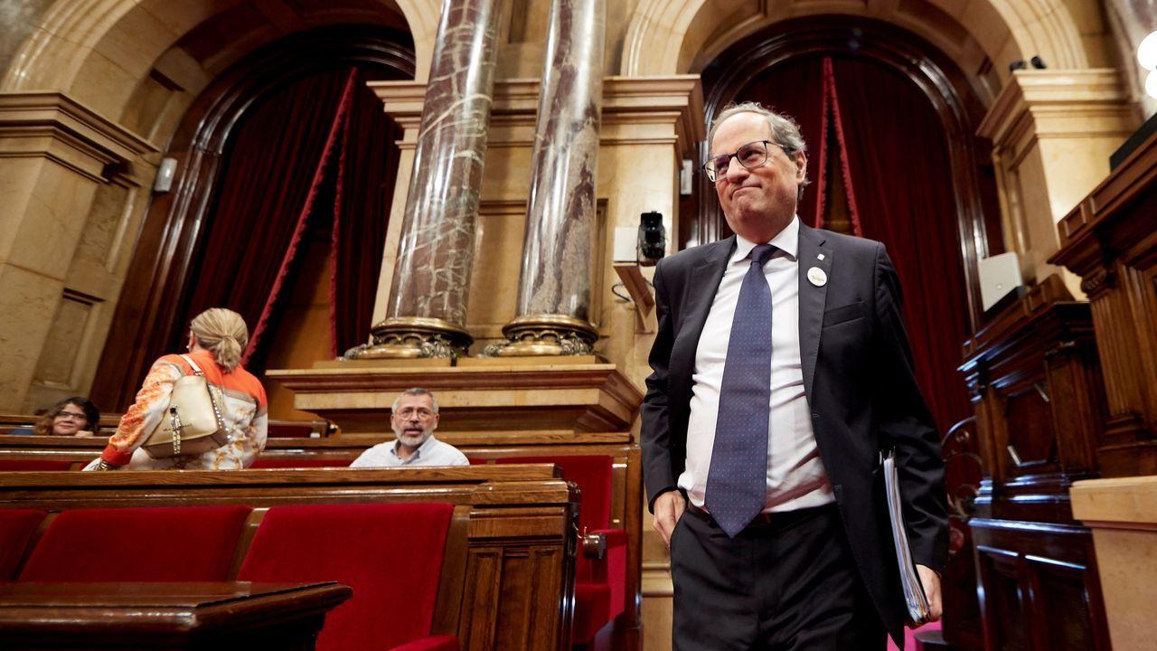 El portavoz de JxCat en el Parlament, Albert Batet, ha advertido de que sería un «retroceso» un pacto de claridad para hacer un referéndum, como ha planteado el jueves el presidente del Parlament, Roger Torrent, si no reconoce el derecho a la autodeterminación