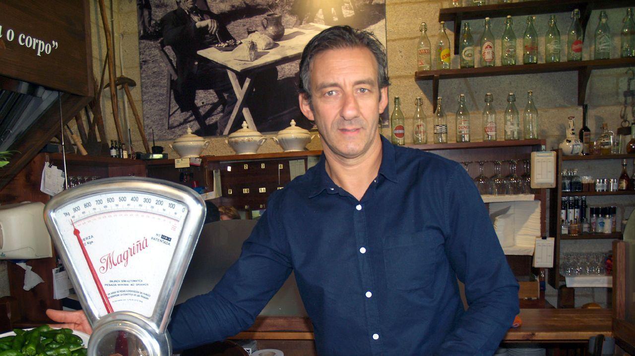 Roberto Iglesias é responsable do restaurante Os Pendellos