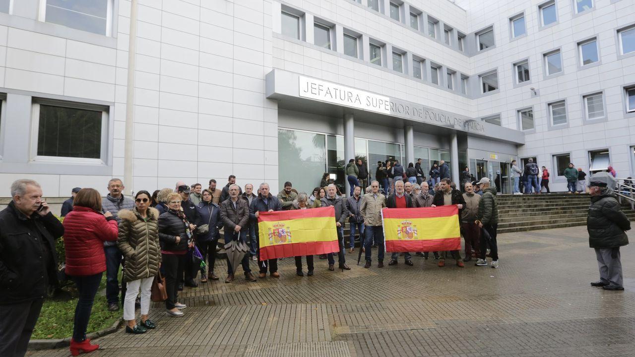 Concentración por los policías desplegados en Cataluña