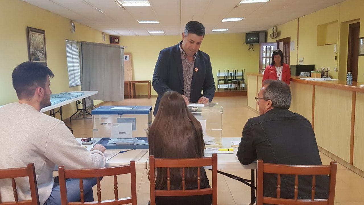 Ángel Alvariño, candidato del PSOE de Neda