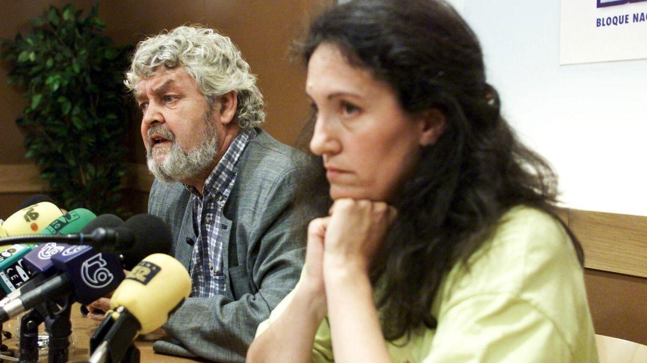 Lidia Senra, con Xosé Manuel Beiras, no ano 2000