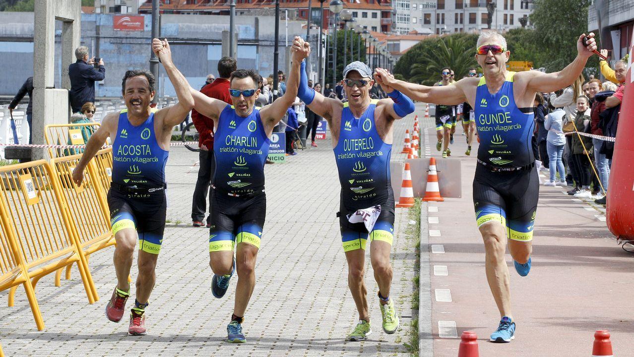 Las imágenes del triatlón en Vilagarcía