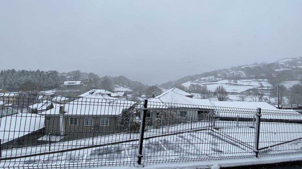 Nieve en Chandrexa de Queixa (Ourense)