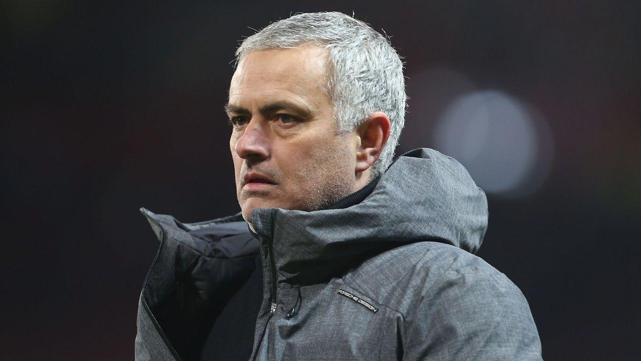 Jose Mourinho, en la previa de un partido de la Liga de Campeones, en el 2017