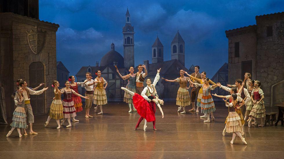 Un momento de «El Quijote» de la Compañía Nacional de Danza